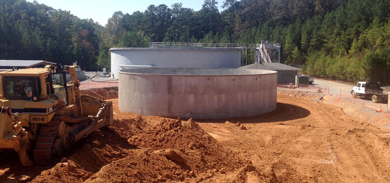 Double Oak Water Reclamation Equalization Basin