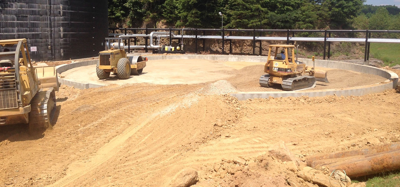 Asphalt Storage Tank Foundation